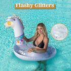 Giant Ice Dragon Pool Party Tube Inflatable Raft Ride On Summer Beach Lounge