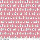 Cozy Christmas Snowman Pink Flannel Fabric F5363