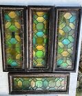 Antique Victorian Stained Glass Windows - Lot Of 4 - 2 Sets of 2 - 14