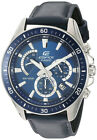 Casio Men's 'Edifice' Chrono 100m Stainless Steel Leather Watch EFR-552L-2AVCF