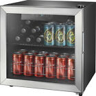 Insignia- 48-Can Beverage Cooler - Stainless steel/Silver