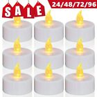 24 48 72 96PC Flameless Votive Candles Battery Operated Flickering LED Tea Light