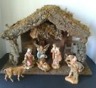Vintage 9 piece Fontanini Nativity Christmas set with Creche