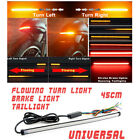 45cm Dual color Red/Amber switchback Flowing LED DRL Brake Turn Signal Strobe