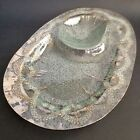 Dorothy Thorpe Silver Atomic Splash  Glass ServingTray Chip Dip Mid Century