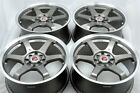 4 New DDR i5 17x7.5 4x100/114.3 38mm Gunmetal Machined Lip 17