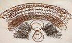 Lot of 30 Rusty Hour Glass Bed Springs + 60 Mini 4