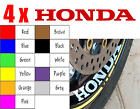 4x HONDA CBR 1000RR CBF Fireblade VFR 600RR Wheel Rim Sticker Decal Motorcycle