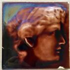 Kensington Tile Antique Ceramic Portrait Relief Brown Art Tile