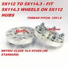 2pc 25mm Wheel Adapters Spacers  5X112 to 5x1143  666 to 601 Hub  1 Inch