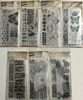 TIM HOLTZ CLEAR STAMPS STAMPS STENCIL 7 PACKAGES