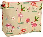 NEW Vagabond Bags Florence Flamingo Toiletry Make Up Bag Large 30 x 22 x 10 cms