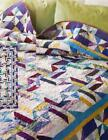 TROPICAL TWIST Quilt Pattern Easy Strip Piecing Multi Sizes from Magazine