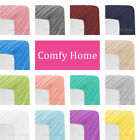 Comfy Home Microfiber Solid Color Bottom Fitted Sheet All Seasons Deep Pocket