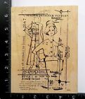 Vogue By Stampers Anonymous Tim Holtz Designer Pattern Collage Rubber Stamp