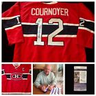 Yvan Cournoyer Montreal Canadiens Signed Autograph NHL Hockey Jersey JSA L20672