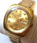 Vintage BUCHERER Automatic - 25 jewel - Weekday - Gold-tone Men's Watch