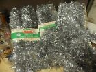 LARGE LOT OF VINTAGE NOS LIBERTY BELL SILVER CHRISTMAS TINSEL GARLAND 45 FEET