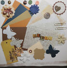 Card Making Kit Paper Embellishments to Make 5 Cards Text  Script Backgrounds