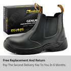 Safetoe Safety Work Boots Mens Shoes Steel Toe Water Resistant Slip on M 8025 US