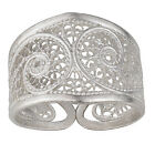 S.Michael Designs Artisan Crafted Silver Filigree Ring - SIZE 9