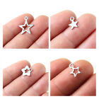 20x Silver Plated Stainless Steel Pentagram Star Charm Pendant DIY Finding Craft
