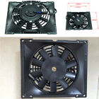 Universal Motorcycle ATV Dirt Bike Engine Cooling Fan Black Plastic Reduce Temp