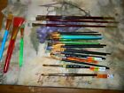 LOT OF 23 Artist Paint Brushes Loew Rowney Royal Langnickle
