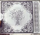 Embossing folders  acrylic Stamp Floral Lace 3 piece set