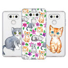 OFFICIAL MICKLYN LE FEUVRE CATS SOFT GEL CASE FOR LG PHONES 1