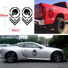 2x Black DIY Truck SUV Car Bed Side Stripe Vinyl Decal Skull Decoration Sticker