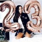 32 Inch Rose Gold 0 9 Number Foil Helium Balloons for Birthday Wedding Party