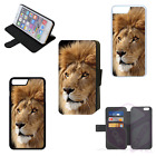 LION NATURAL Real Life Wallet Flip Phone Case or Cover iPhone Compatible (F)