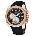 Parmigiani Men's Pershing 005 Blue Leather Strap Automatic Watch PFC528.3102500