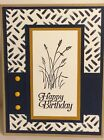 Stampin Up Handmade Wetlands Greeting Card Happy Birthday Male