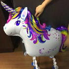 Walking Unicorn Foil Balloons for Kids Birthday Party Unicorn Inflatable ToysS3Y