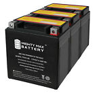 Mighty Max YTX7L BS 12V 6Ah Battery Replaces Go Cart Moped ATV Scooter 3 Pack