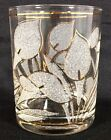 4 Vtg Culver Calla Lily Clear Frosted Gold Trim Rocks DOF Glasses 12 oz Tumblers