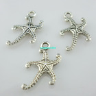 60 300pcs Tibetan silver Gold starfish Charms Pendants Beads 1217mm