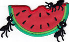 Watermelon Ants Food Summer Picnic Iron On Embroidered Applique Patch