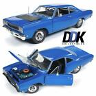Auto World AMM1125 1968 Plymouth Roadrunner Post Coupe Blue Diecast Car 118