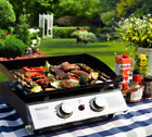 Portable Table Top Hibachi Grill Griddle + Case Camping Tailgating Compact LP