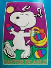 Snoopy Peanuts decorative flag Easter Beagle Snoopy  New in pkg NCE vintage