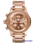 New Nixon Watch 42-20 Chrono All Rose Gold A037-897 A037897 42mm men gift
