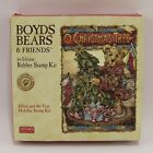 Boyds Bears & Friends O Christmas Tree Rubber Stamp Kit Elliot Holiday Stamps