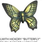 Lot Of 3 - Belwith # PA1513-VA Butterfly Knob Verdigris Antique Gold
