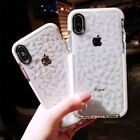 For iPhone X 8 6 7 Plus Crystal Bling Glitter Rubber TPU Clear Soft Case Cover