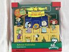 Rare Peanuts Advent Calendar Wooden Nativity Christmas Pageant Display Set
