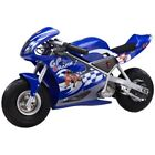 Razor 24 Volt Mini Electric Single Speed Racing Motorcycle Pocket Rocket NEW