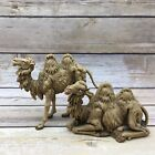 Vintage 1983 Fontanini 45 and 3 Kneeling Standing Camel Nativity Figurines